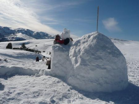 Mon premier igloo sur le plateau de Beille en Pyrénées Ariégeoises