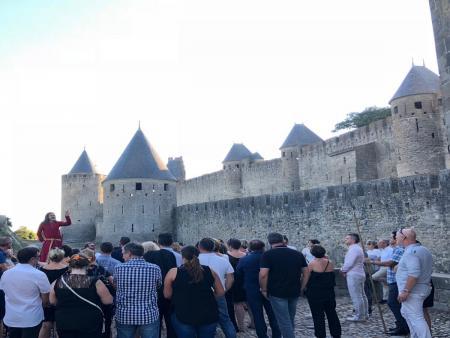 Rencontre à Carcassonne avec un chevalier du XIIIème siècle - Cité de Carcassonne -groupe_adultes_C°ILC