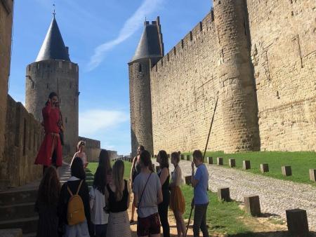 Rencontre à Carcassonne avec un chevalier du XIIIème siècle - dans les lices_C°ILC