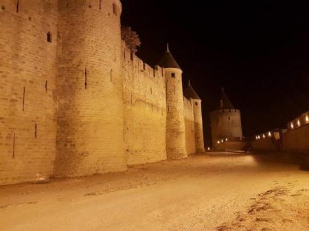 Visite guidée 1h de la Cité Médiévale en nocturne