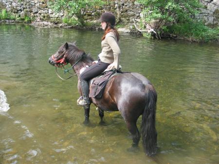 A cheval sur les traces des Cathares - 14/17 ans - Dans la fraicheur de la rivière_C°Soularac