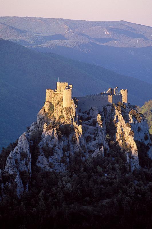 Visite du château de Puilaurens à Lapradelle