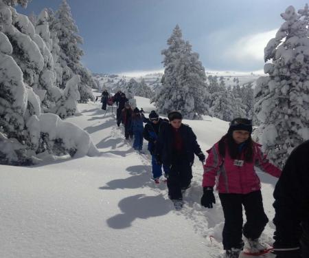 Mes premiers pas en raquettes à neige sur le plateau de Beille en Pyrénées Ariégeoises