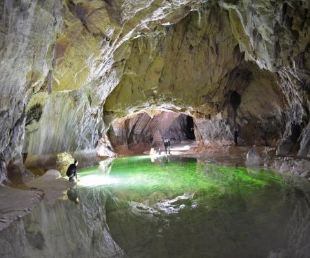 Visite de la grotte de Lombrives