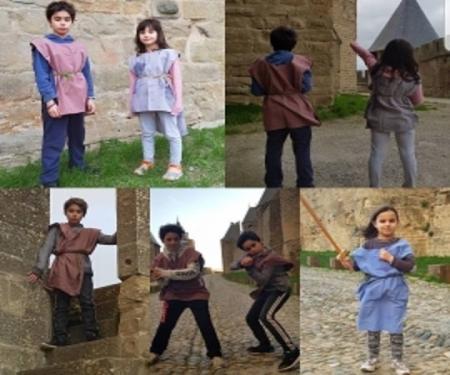 Visite en costume avec Dame Azalais  dans la Cité de Carcassonne pour scolaires 1h30
