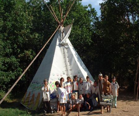 Indien et Trappeur dans l'Aveyron